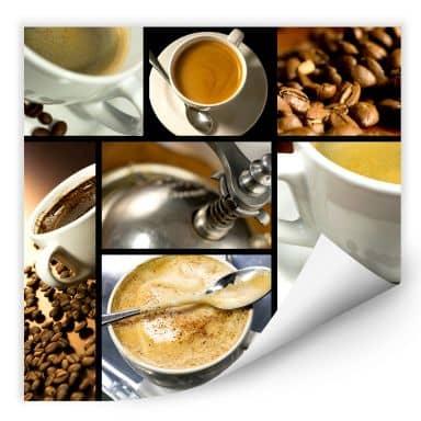 Wallprint W - Kaffee Vielfalt