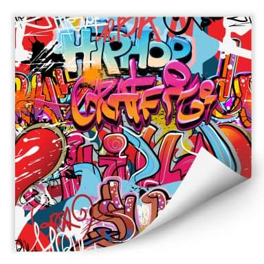 Wallprint W - Graffiti Hip Hop - quadratisch