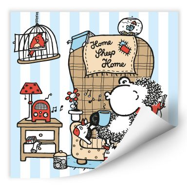 Wall print Sheepworld Home Sheep Home Music