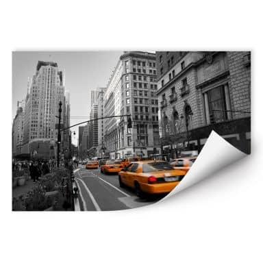 Zelfklevende Poster - Taxi's in Manhattan