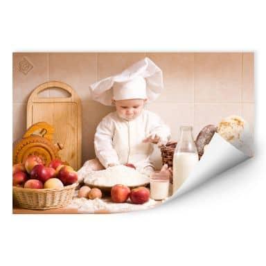 Poster autocollant - W - Chef Pâtissier