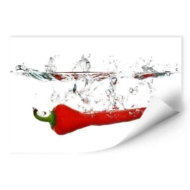 Wall print Chili Pepper