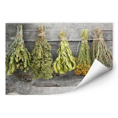 Wall print Dried Herbs