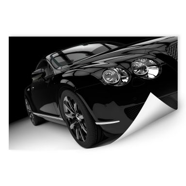 Wallprint W - Metallic Car Black 02