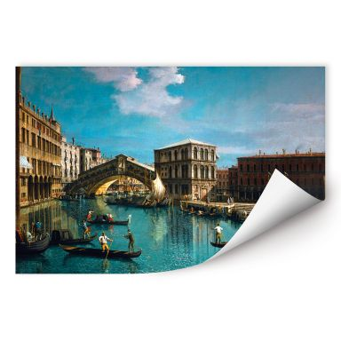 Wallprint W - Canaletto - Die Rialtobrücke in Venedig