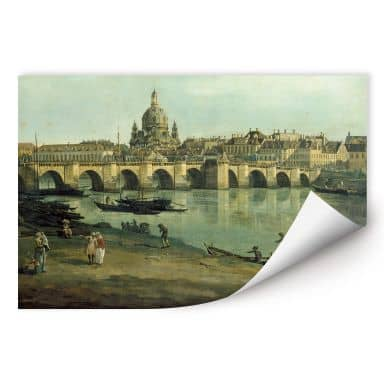 Wall print W - Canaletto - Dresden from the right bank of the Elbe