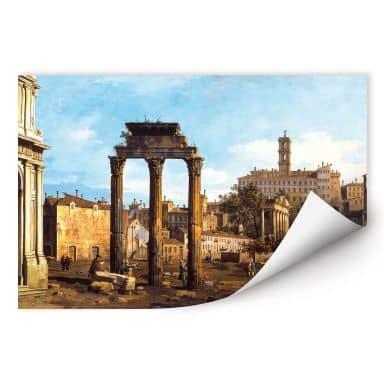 Wallprint W - Canaletto - Forum mit Tempel von Kastor und Pollux