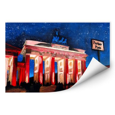 Wall print W - Bleichner - Berlin benearth the starry sky