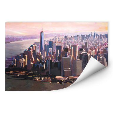Wall print Bleichner - Manhattan Freedom