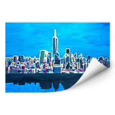 Wallprint W - Bleichner - New York City im Neonschimmer
