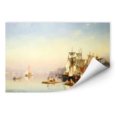 Wallprint W - Neumann - Fischerboote und Kähne auf der Themse bei Greenwich