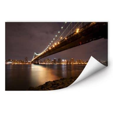 Wall print Manhattan Bridge at Night