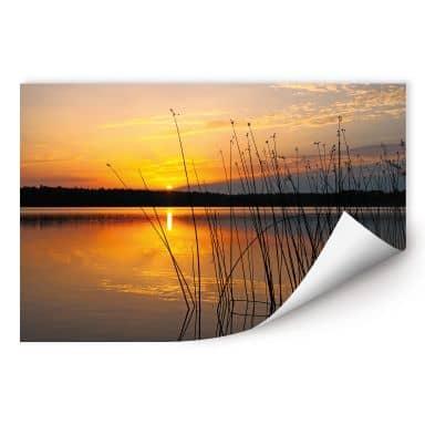 Wallprint W - Sonnenuntergang am See