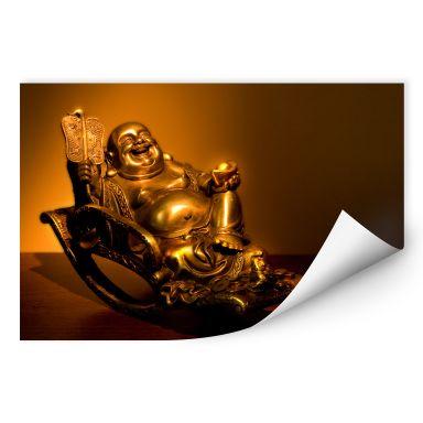 Zelfklevende Poster  Happy Buddha