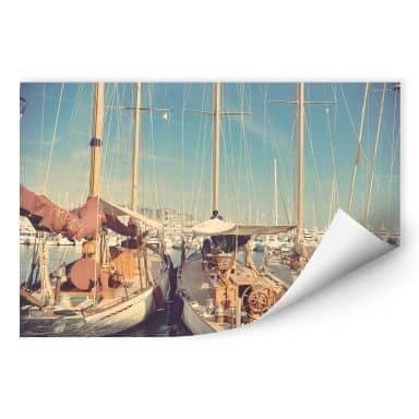 Wallprint Segelschiffe im Hafen