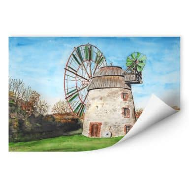 Wallprint Toetzke - Holländerwindmühle