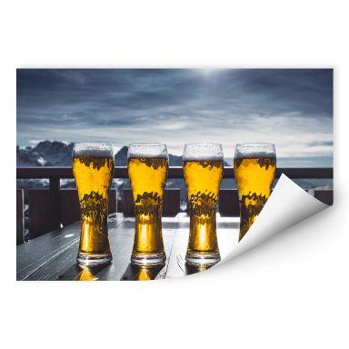 Wallprint Eiskaltes Bier