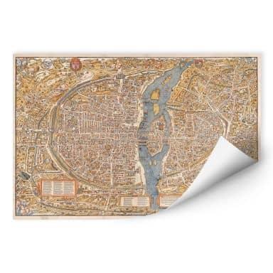 Wallprint Historische Karte von Paris