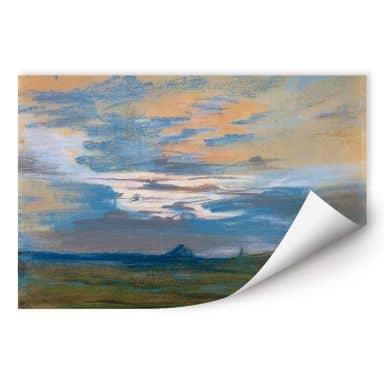 Wallprint Delacroix - Himmelsstudie bei Sonnenuntergang