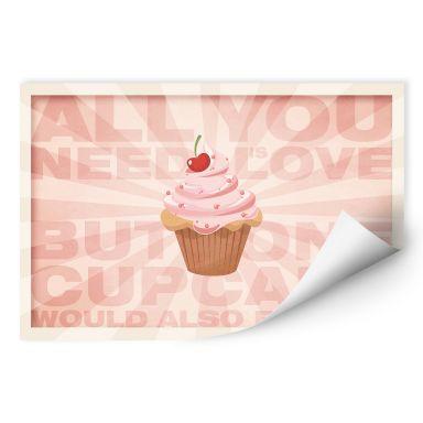 Wallprint All you need is love 02