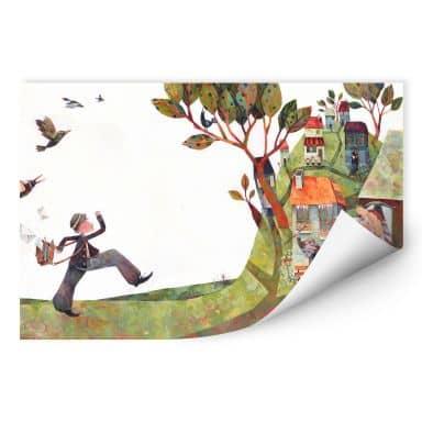 Wallprint Blanz - Der Briefträger