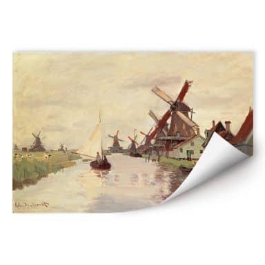 Wallprint W - Monet - Holländische Landschaft mit Windmühlen