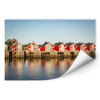 Wallprint W - Ferienhäuser am Meer