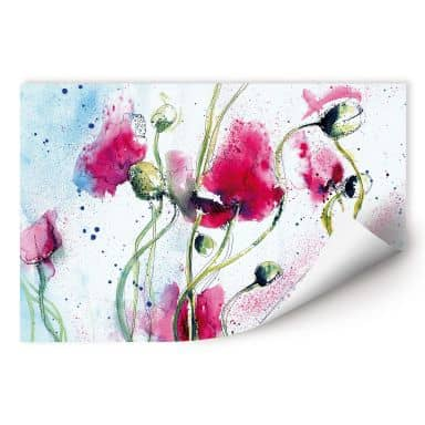 Wall print Poppies Water Colour