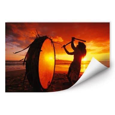Wallprint W - NG Hawaiianischer Trommler