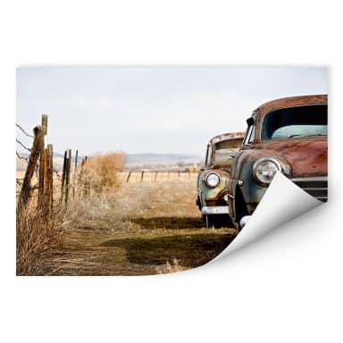 Wallprint W - Old Rusted Cars
