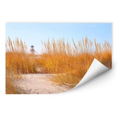 Wallprint W - Leuchtturm im Strandfeld