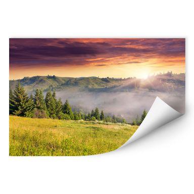 Wallprint W - Bergtal im Nebel