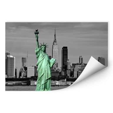 Zelfklevende Poster - Statue of Liberty