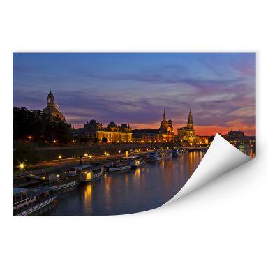 Wallprint W - Dresden im Nachtlicht