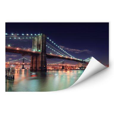 Wallprint W - Manhattan Bridge at Night 2