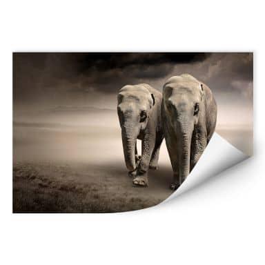 Muurprints - Olifanten