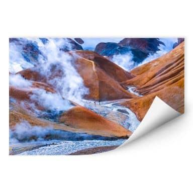 Wallprint W - Vulkanisches Bergland Islands