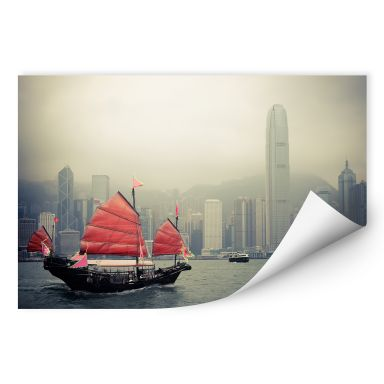 Wallprint W - Sailing in Hongkong
