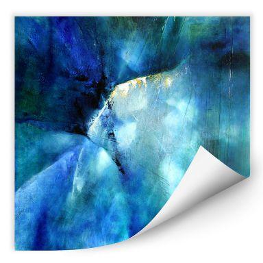 Wallprint Schmucker - Komposition in blau