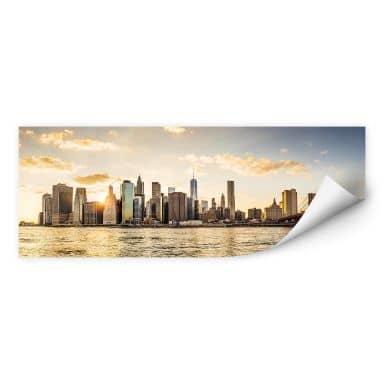 Wallprint Sundown in Manhattan