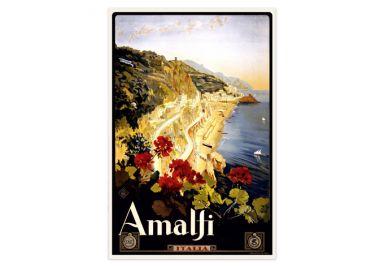 Wallprint Vintage Travel - Amalfi