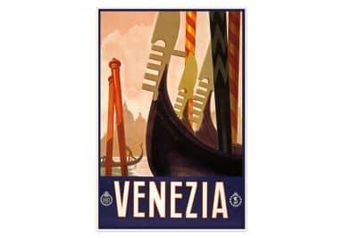 Wallprint Vintage Travel - Venezia