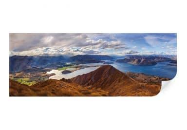 Wallprint Yan  - Aussicht vom Roys Peak - Panorama
