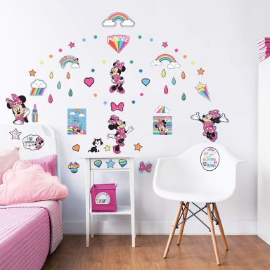 Adesivi Murali Minnie E Topolino.Stickers Da Muro Della Disney Wall Art It