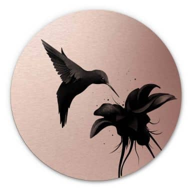 Alu-Dibond round copper effect - Ireland - Hummingbird