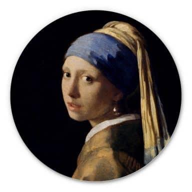 Alu-Dibond Vermeer - Das Mädchen mit dem Perlenohrgehänge - Rund