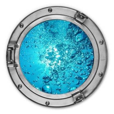 Alu-Dibond 3D-Optik Bullauge - Sound of a Ocean - Rund