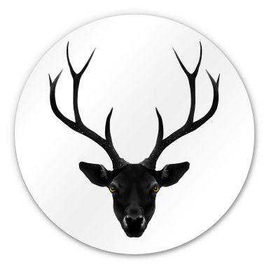 Alu-Dibond Ireland - The Black Deer - Rund
