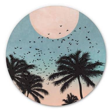 Alu-Dibond rond - Kubistika - Sunset