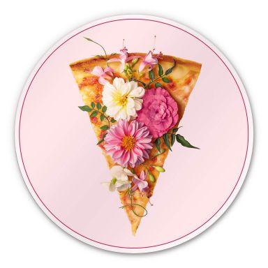 Alu-Dibond Fuentes - Pizza und Blumen - Rund
